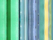 Cerca de madeira colorida Imagens de Stock