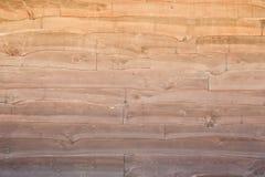 Cerca de madeira com borda entalhada Foto de Stock