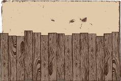 Cerca de madeira com fundo do grunge. Imagem de Stock