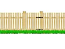 Cerca de madeira com a porta Imagem de Stock