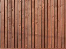 Cerca de madeira de Brown Foto de Stock