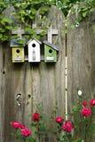 Cerca de madeira decorada Fotografia de Stock Royalty Free