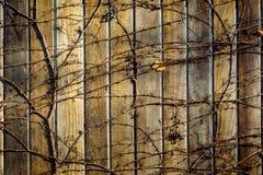 Cerca de madeira do fundo fotos de stock royalty free