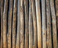 Cerca de madeira dos troncos de árvore Fotografia de Stock
