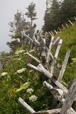 Cerca de madeira em cumes de Suíça Imagem de Stock Royalty Free