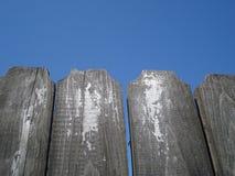 Cerca de madeira envelhecida Foto de Stock Royalty Free