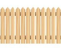 Cerca de madeira (horizontalmente sem emenda) ilustração stock