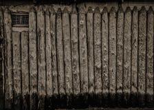 Cerca de madeira monocromática foto de stock