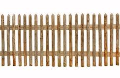 Cerca de madeira no fundo branco Foto de Stock