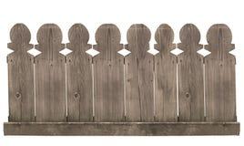 Cerca de madeira no fundo branco Foto de Stock Royalty Free