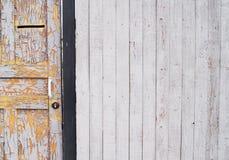 Cerca de madeira - o fundo foto de stock