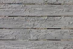 Cerca de madeira pintada Grunge Fotos de Stock