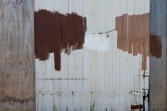 Cerca de madeira reparada e pintada Imagem de Stock Royalty Free