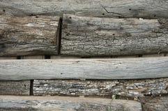 Cerca de madeira resistida Fotografia de Stock Royalty Free