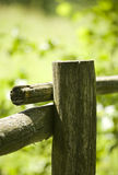 Cerca de madeira velha fotos de stock