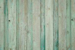 Cerca de madeira velha do fundo Fundo verde foto de stock royalty free