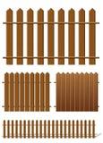Cerca de madera ilustración del vector