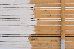Cerca de madera imagen de archivo libre de regalías
