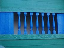 Cerca de madera azul, Foto de archivo