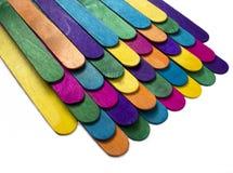 Cerca de madera colorida Fotografía de archivo