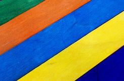 Cerca de madera colorida Foto de archivo