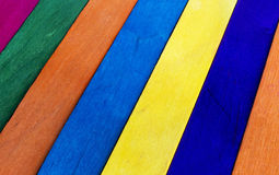 Cerca de madera colorida Fotografía de archivo libre de regalías