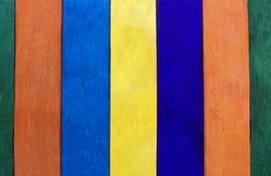 Cerca de madera colorida Imagenes de archivo