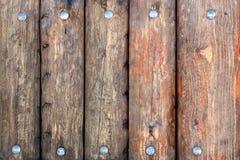 Cerca de madera con los remaches Fotografía de archivo libre de regalías