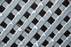 Cerca de madera congelada Imágenes de archivo libres de regalías