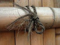 Cerca de madera de bambú Imágenes de archivo libres de regalías