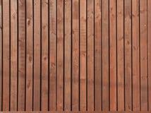 Cerca de madera de Brown Foto de archivo
