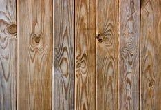 Cerca de madera de Brown Imágenes de archivo libres de regalías
