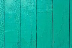 Cerca de madera de la turquesa Fotos de archivo