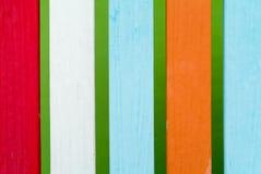 Cerca de madera multicolora Imagen de archivo