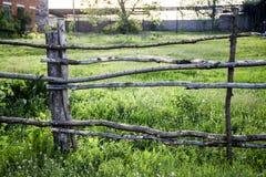 Cerca de madera rural Imagen de archivo libre de regalías