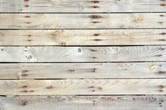 Cerca de madera sin pintar horizontal Foto de archivo libre de regalías