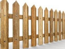 Cerca de madera (trayectoria de recortes incluida) Foto de archivo