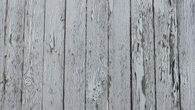 Cerca de madera vieja blanca almacen de video