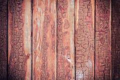 Cerca de madera vieja con la pintura agrietada fotos de archivo