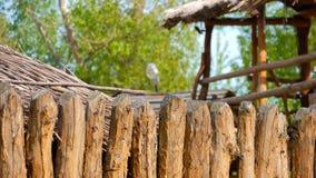 Cerca de madera, vieja construcción tradicional de la cerca metrajes