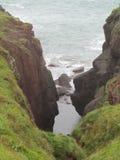 Cerca de Manorbier, Pembroke, el Sur de Gales  Fotos de archivo libres de regalías