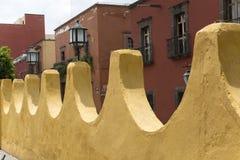 Cerca de pedra colonial em México Imagem de Stock