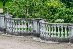 Cerca de pedra da balaustrada imagens de stock royalty free