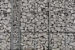 Cerca de pedra e de aço Fotos de Stock Royalty Free