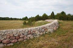 Cerca de pedra redonda Fotografia de Stock