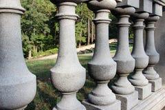 Cerca de piedra de la barandilla Foto de archivo