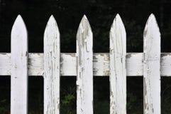 Cerca de piquete blanca Foto de archivo libre de regalías