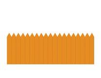 Cerca de piquete de madeira Ilustração Stock