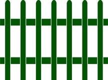 Cerca de piquete verde, vetor, teste padrão sem emenda foto de stock