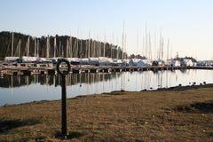 Cerca de puerto en Oslo Imagenes de archivo